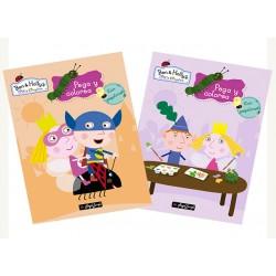 Pack 24 Un. Pega y Colorea Ben & Holly´s Little Kingdom 2