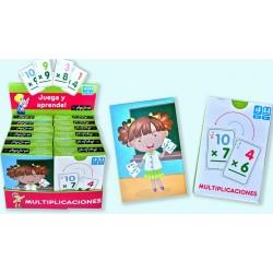 Pack 12 Un. Juego de Cartas Juega y Aprende| Multiplicaciones