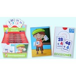 Pack 12 Un. Juego de Cartas Juega y Aprende| Divisiones