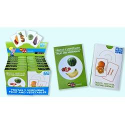Pack 12 Un. Juego de Cartas Frutas y Verduras