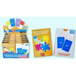 Pack 12 Un. Juego de Cartas Domino Español-Ingles