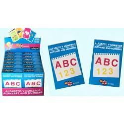 Pack 12 Un. Juego de Cartas Alfabeto y Numeroso Español-Ingles