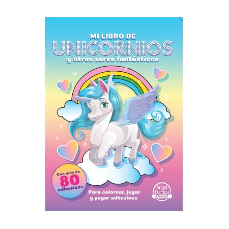 Gran libro pinta y pega con adhesivos 1 (2-3 Años)