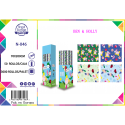 Caja: 50ud. Papel de Regalo Ben & Holly