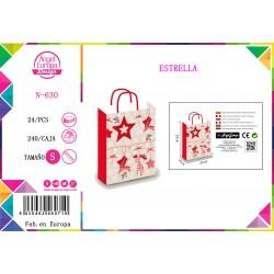 Bolsa de Regalo Estrella Navidad