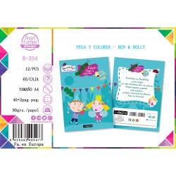 Pack 12 Un. Super Pega y Colorea Ben & Holly´s Little Kingdom