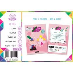 Pack 12 Un. Súper Ben & Holly Pega y Colorea