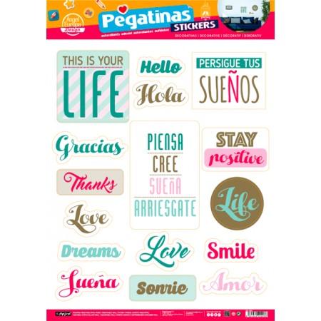 Stickers Con Frasi.Stickers 48x68