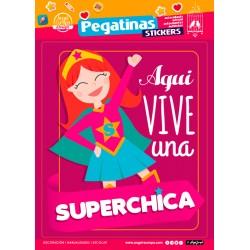 Stickers Super Chica (24x34)