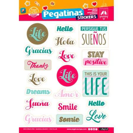 Stickers Con Frasi.Stickers 24x34