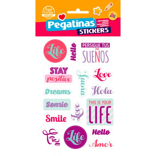 Stickers Con Frasi.Without Relief