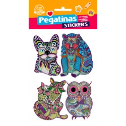 Stickers Mandalas Animales (10x19)