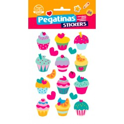 Stickers Relieve Cup Cackes (10x19)